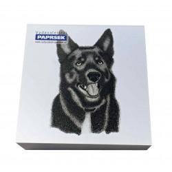 Poznámkový bloček 90x90 mm PAPRSEK®, lepený, čistý, 250 lístků, pes