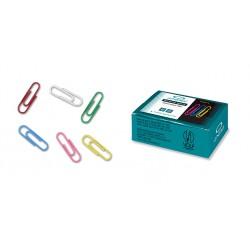 Dopisní spony CONCORDE 33mm, barevné, 100 ks