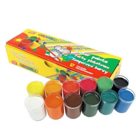 Temperové barvy Easy v kelímku 20ml - 12 barev