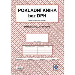 Pokladní kniha bez DPH A4 - propisující