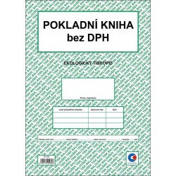Pokladní kniha bez DPH A4 - nepropisující