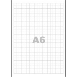 Poznámkový blok A6, bez přebalu, lepený, 50 listů 80g - čtvereček
