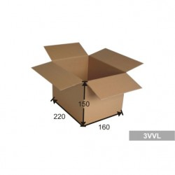 Kartonová krabice A5, 3 VVL 220x160x150 mm