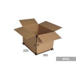 Kartonová krabice A5, 3 VVL 220x160x200 mm