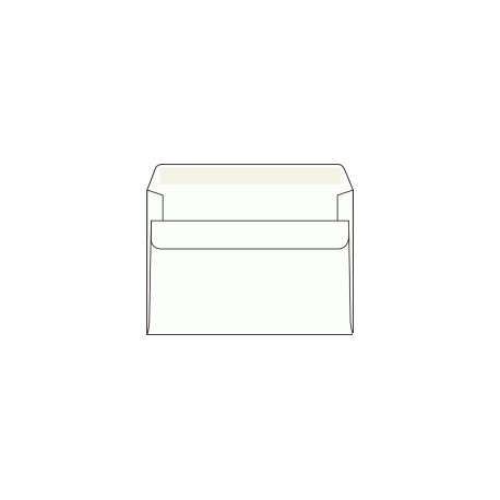Obálka C6, bílá, samolepící, 80g/m2,  114x162 mm