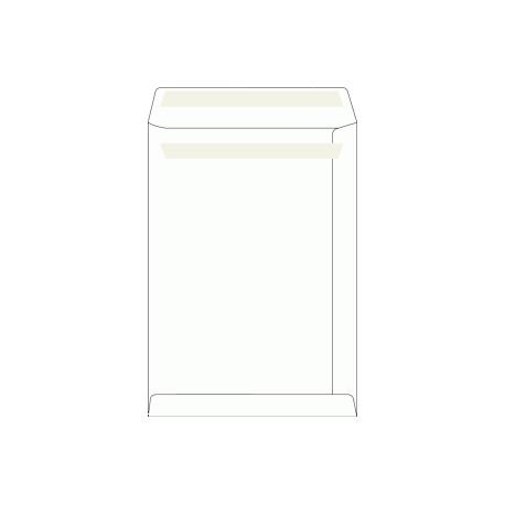 Poštovní taška C4, bílá, samolepící, 100g/m2, 324x229 (mm)