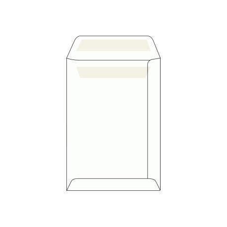 Poštovní taška C5, bílá, samolepící, 100g/m2, 229x162 mm