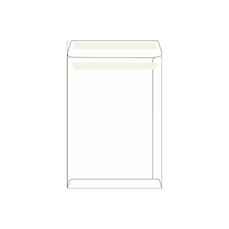 Poštovní taška B4, bílá, samolepící, 100g/m2, 353x250 mm