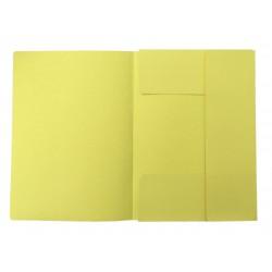 Odkládací mapa 3 klopy, classic, žluté