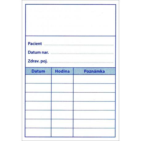 Balení 100 ks objednacích kartiček PAPRSEK® pro pacienty bez obrázku