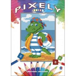Omalovánka A4 - Pixely Junior