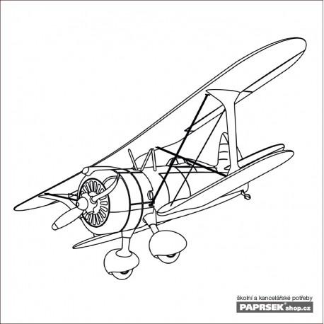 Omalovánka dětská karta 149x149 mm - letadlo