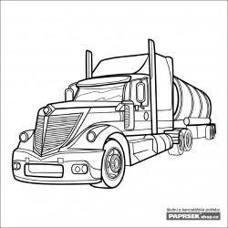 Omalovánka dětská karta 149x149 mm - kamion