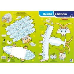 Vystřihovánka A3 - Ovečka a kozička