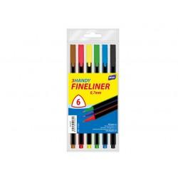 Liner  MFP 0,7mm, trojhranný - sada 6 ks