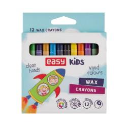 Voskové pastely EASY Colours - 12 barev/sada