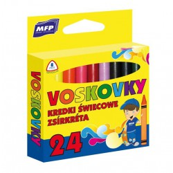 Voskové pastely MFP trojhranné - 24 barev/sada