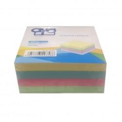 Poznámkový bloček AURO - pastel - lepený 90x90x40mm - 400 listů