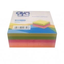 Poznámkový bloček AURO - neon - lepený 90x90x40mm - 400 listů