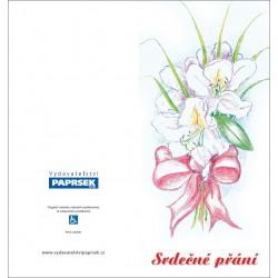 Přání PAPRSEK® MIX květiny - otevírací DL bez textu včetně obálek - sada 5ks