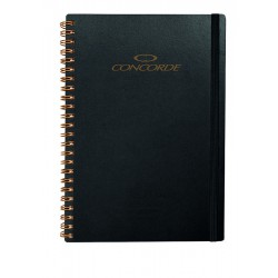 Zápisník CONCORDE Spiral, A5, linka 9mm, 80l, černý