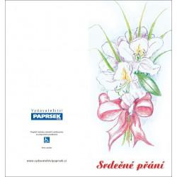 Přání PAPRSEK® MIX květiny - otevírací DL bez textu včetně obálek - sada 10ks