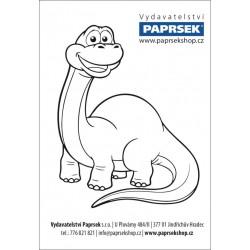 Balení 500 ks objednacích kartiček PAPRSEK® k vymalování DINO, 4 Kč/ks