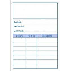Balení 1000 ks objednacích kartiček PAPRSEK® pro pacienty bez obrázku