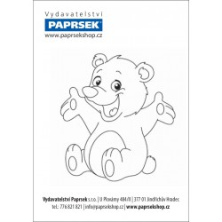 Balení 250 ks objednacích kartiček PAPRSEK® k vymalování ZVÍŘÁTKA, 4 Kč/ks