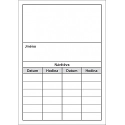 Balení 250 ks objednacích kartiček PAPRSEK® bez obrázku, šedý tisk, 4 Kč/ks