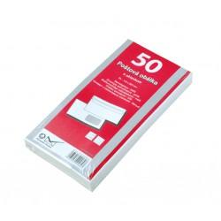 Obálka DL, bílá, samolepící, 80g/m2, s okénkem, 110x220 mm - 50ks