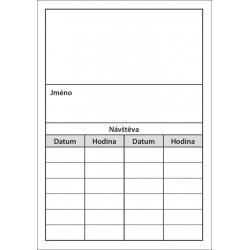 Balení 500 ks objednávacích kartiček PAPRSEK® bez obrázku, šedý tisk, 3,60 Kč/ks