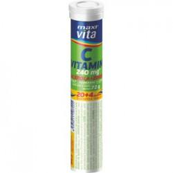 Vitamin C + acerola + zinek - šumivé tablety MaxiVita 20+4 tbl.
