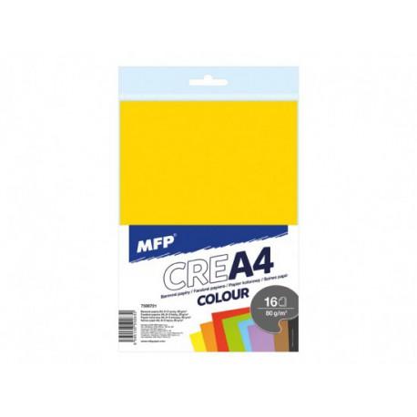 Barevné papíry A4,  MFP - 16 listů