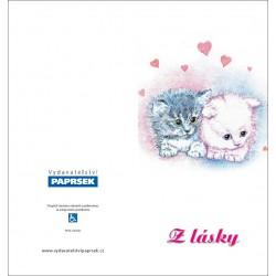 Přání PAPRSEK® - otevírací DL bez textu včetně obálky kód: 022