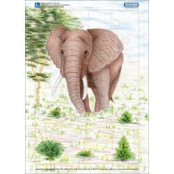 Puzzle PAPRSEK® A4 s rámečkem na podložce ve folii, 24 dílků - kód 002