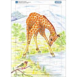 Puzzle PAPRSEK® A4 s rámečkem na podložce ve folii, 24 dílků - kód 003