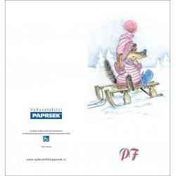 PF PAPRSEK® - otevírací DL bez textu včetně obálky - kód: 061