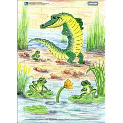 Puzzle PAPRSEK® A4 s rámečkem na podložce ve folii, 24 dílků - kód 008