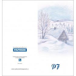 PF PAPRSEK® - otevírací DL bez textu včetně obálky - kód: 053