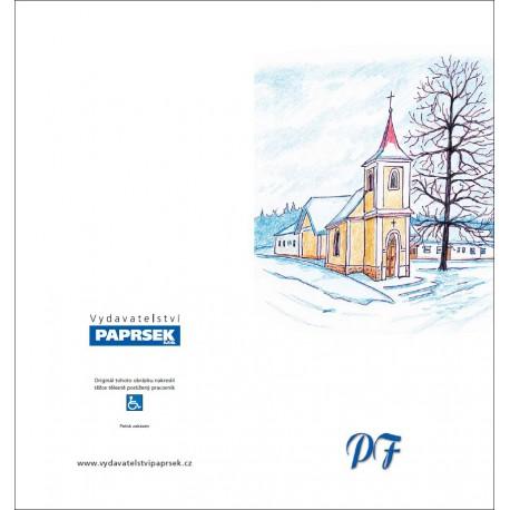 PF PAPRSEK® - otevírací DL bez textu včetně obálky - kód: 042