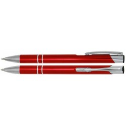 Propiska ALBA kovová s vlastním logem (laser) - červená C-07