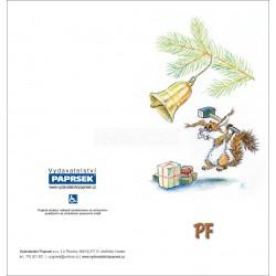PF PAPRSEK® - otevírací DL bez textu včetně obálky - kód: 057