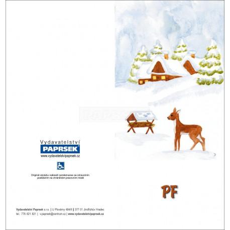 PF PAPRSEK® - otevírací DL bez textu včetně obálky - kód: 060