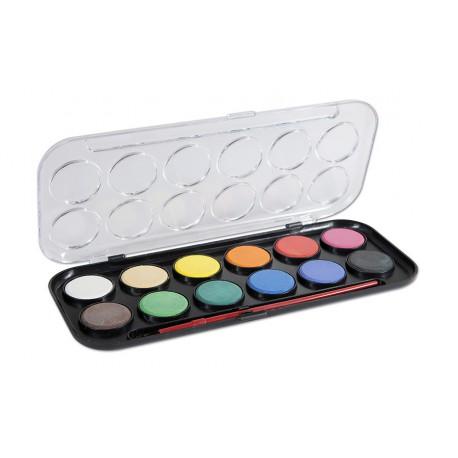 Vodové barvy CONCORDE, 12-ti barevné