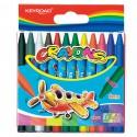 Voskové pastely KEYROAD - 12 barev/sada