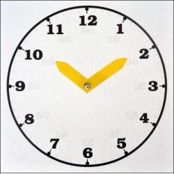 Školní hodiny - bílé