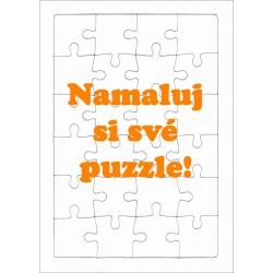 Puzzle na domalování PAPRSEK® A4 s rámečkem, 24 dílků - čisté, bez potisku na podložce ve folii