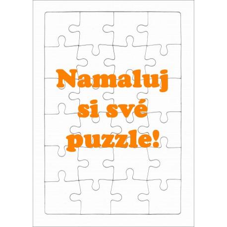 Puzzle PAPRSEK® A4 s rámečkem, 24 dílků - čisté, bez potisku