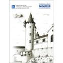 Poznámkový blok A4 PAPRSEK®, lepený, čistý, 50 listů, hradní věž
